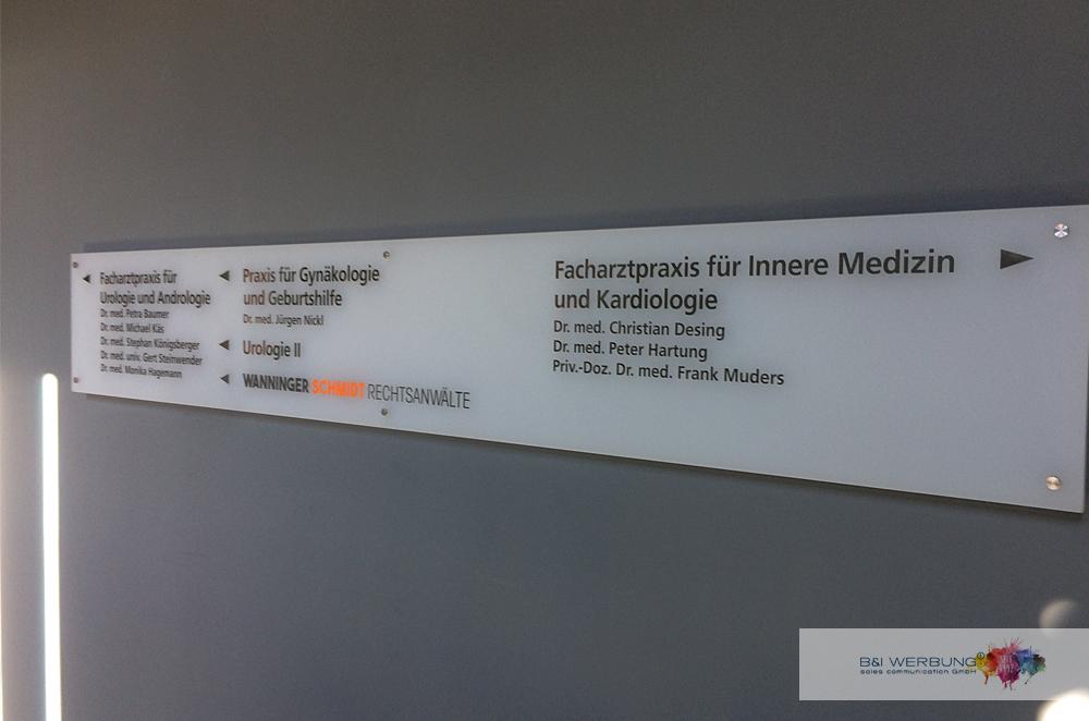 WEGE LEIT SYSTEM | Ärztehaus Moosbürg - Weiden