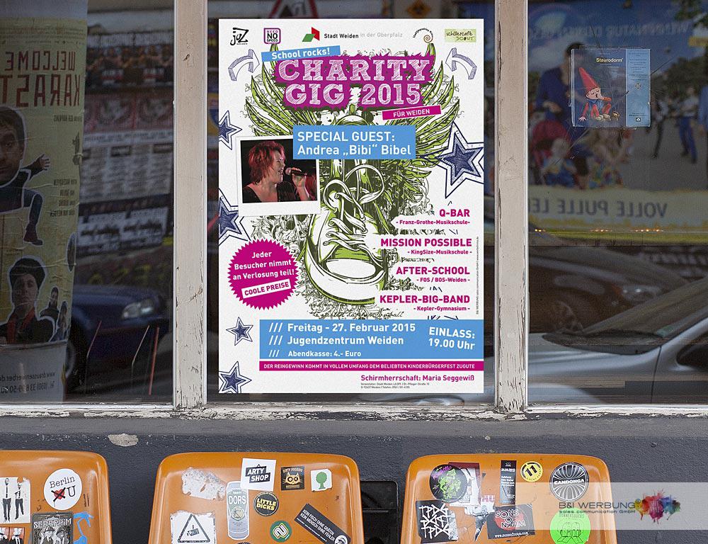 PLAKATGESTALTUNG | Charity GIG - Stadt Weiden
