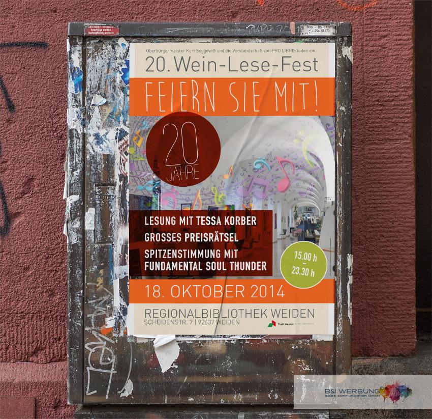 PLAKATGESTALTUNG | Wein-Lese-Fest - Weiden