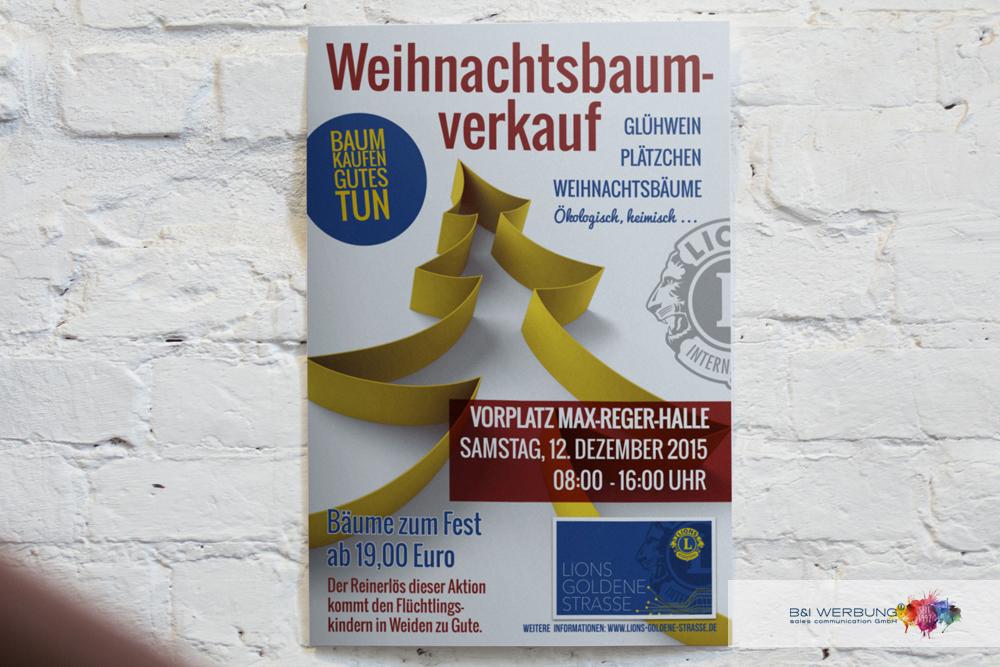 PLAKATGESTALTUNG | LIONS CLUB WEIDEN Goldene Straße - Weiden