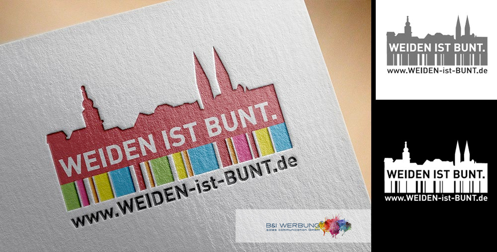 LOGOGESTALTUNG | Bündnis Weiden ist bunt. - Weiden