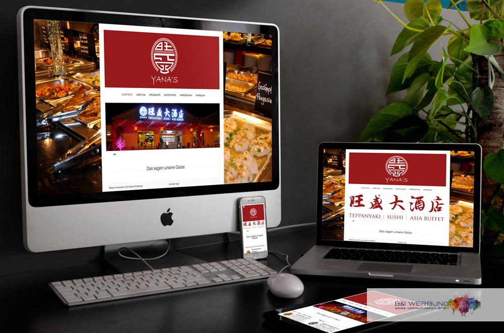 WEBDESIGN | Restaurant YANAs - Weiden