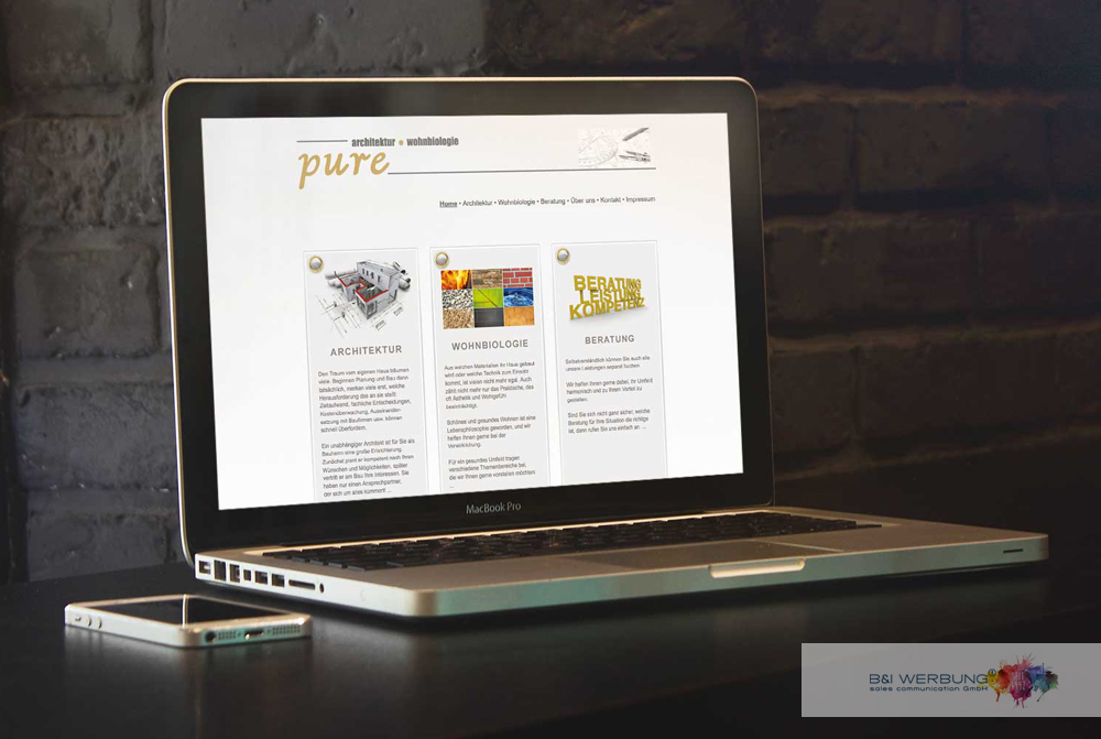 WEBDESIGN | pure Architektur - Weiden